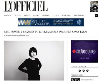 L'Officiel sawa takai